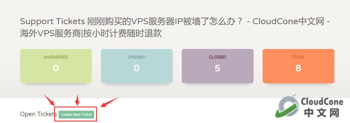 在 CloudCone 刚购买的VPS服务器IP被墙了怎么办? - CloudCone - CloudCone中文网,国外VPS,按小时计费,随时退款