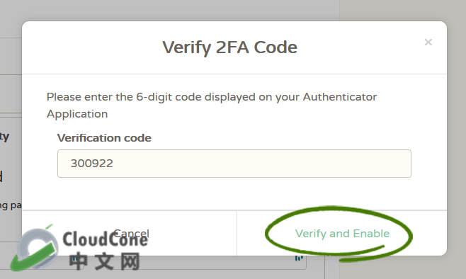 账户安全:为CloudCone账户启用2次登录认证(2-Factor) - CloudCone - CloudCone中文网,国外VPS,按小时计费,随时退款