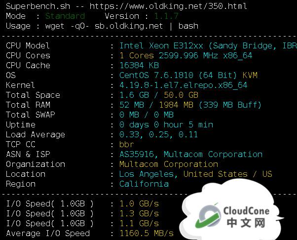CloudCone亚洲优化SSD VPS: 1核1G/5T流量,月付3.33美元 - CloudCone - CloudCone中文网,国外VPS,按小时计费,随时退款